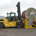 Big Yellow Forklift w/Drum