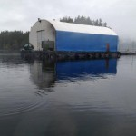 Float House protected by Barge Tarp